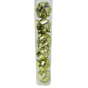 Conjunto de Bolas Pinha Dourada 6cm com 6 unidades - AV 09