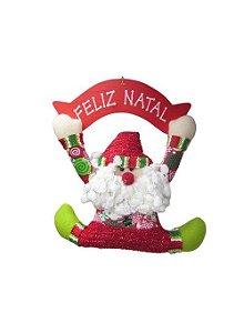 Guirlanda Placa Com Papai Noel - AV 09