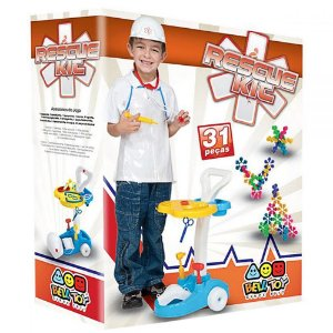 Conjunto Rescue Kit Médico - Bell Toy