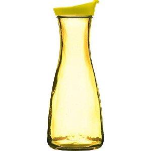 Garrafa de Água em Vidro Amarela Style 1 Litro - Yazi