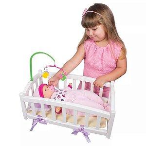 Boneca Bebê Sonho Encantado Com Bercinho - Baby Brink