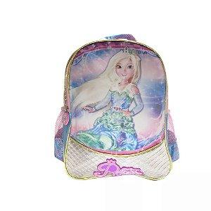 Mochila Silver Princess Azul - Kit