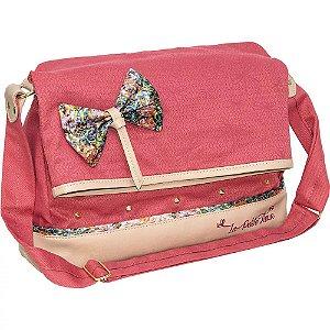 Bolsa com Compartimento para Tablet La Petite Fleur Rose