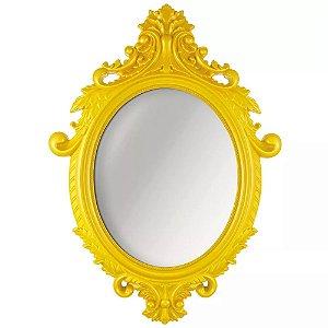 Espelho Oval Rococo Amarelo Mart