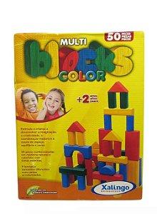 Peças De Montar Madeira Multi Blocks Color Xalingo