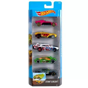 Kit Hot Wheels 5 Carros Stunt Circuit Mattel