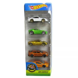 Pacote Com 5 Carros Hw Exotics - Mattel