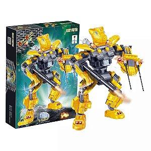 Blocos De Montar Banbao Robô Beast Fighter Amarelo