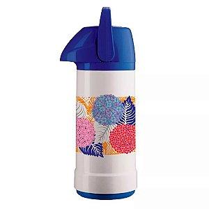 Garrafa Térmica Invicta GLT Azul Floral