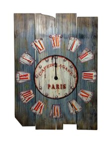 Relógio de Parede Madeira Retrô Paris