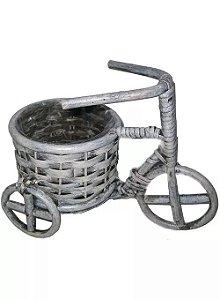 Cachpot Bicicleta de Vime com Cesto