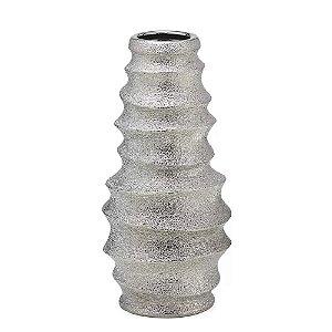 Vaso Decorativo Espiral Prata 29cm Espressione