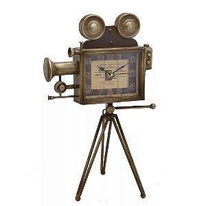 Relógio de Mesa Decorativo Filmadora