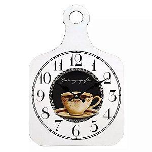 Relógio de Parede Bistrô Coffee
