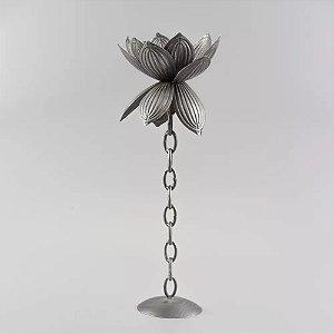 Castiçal Flor de Metal 52cm