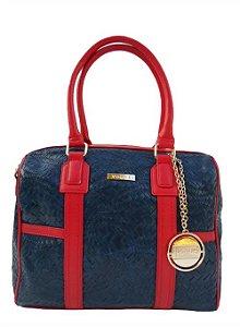 Bolsa Vogue Azul com Vermelho