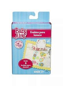 Refil de Fraldas Baby Alive 6 Unidades Hasbro