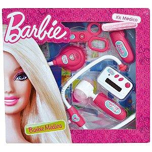 Kit Médica Barbie Funções Divertidas 5 peças Fun