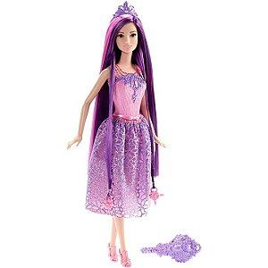 Barbie Dreamtopia Fada Cabelo Roxo Mattel