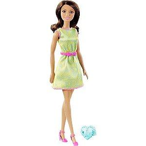 Barbie Fashion com Anel Vestido Verde Mattel