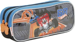 Estojo Hot Wheels 17Z 2 Compartimentos Sestini