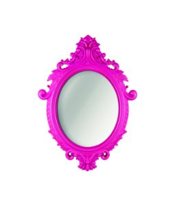 Espelho Oval Rococo Pink Mart Pequeno