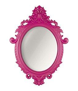 Espelho Oval Rococo Pink Mart Grande