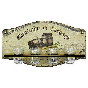 Placa Porta Copos Cantinho Da Cachaça