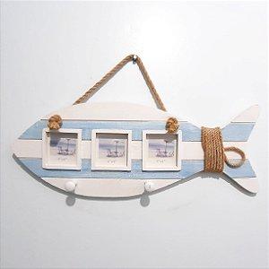 Cabideiro com Porta Retrato Marine Peixe