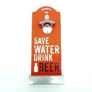 Placa Abridor de Garrafa Save Water The Home