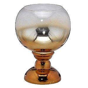 Vaso Dourado Vidro Cobre 32cm