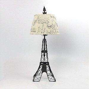 Abajur Torre Eiffel Metal