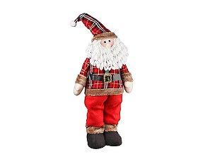 Boneco Papai Noel Em Pé Country 65cm