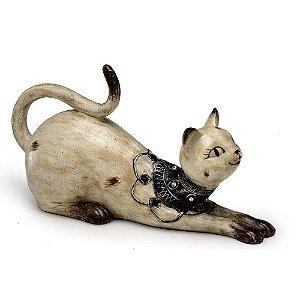 Peça Decorativa Gato Deitado Espressione