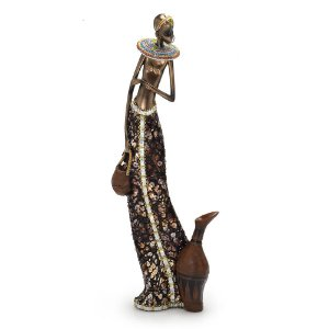 Peça Decorativa Africana Com Jarro