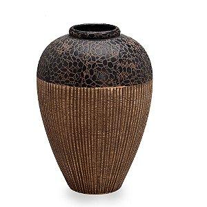 Vaso Decorativo Marrom De Cerâmica Médio Espressione
