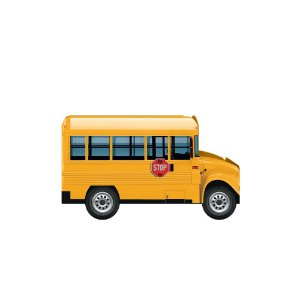 Porta Caneta Ônibus Escolar Amarelo Geguton