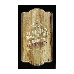 Quadro Porta-rolhas De Parede O Vinho Gaguton