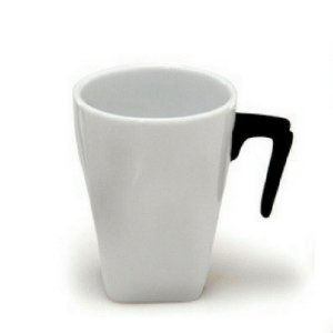 Xícara Branca de Porcelana Espressione