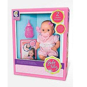 Boneca Bebê Feliz Mamadeira Cotiplás