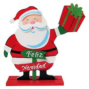 Decoração Natalina Feliz Natal Madeira Santini Christmas