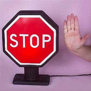 Abajur Luminária Placa Stop Usare