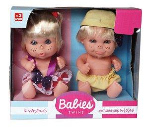 Boneca Gêmeos Twins Bebês Candide