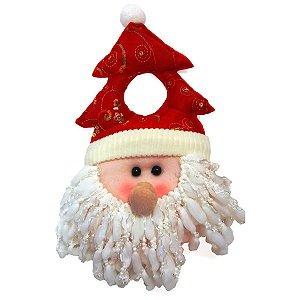 Enfeite para Porta de Natal Papai Noel Tecido