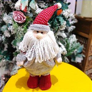 Papai Noel Decorativo Cinza 37cm