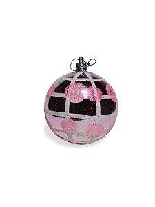 Bola Para Árvore De Natal Pink Espelhada