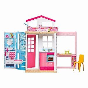 Casa Da Barbie Real Com Boneca 2 Andares Mattel