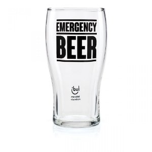 Kit Copo e Abridor de Garrafa Cerveja Emergência Ludi