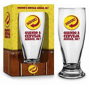 Copo de Cerveja Personalizado Só Vou Brasfoot
