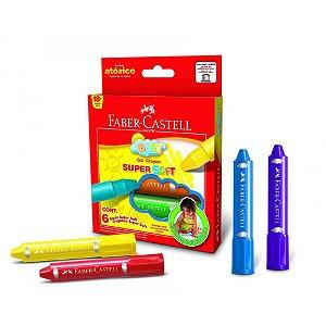 Giz De Cera Super Faber-Castell Soft 6 Cores